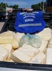 Adagri apreende carga clandestina de queijo