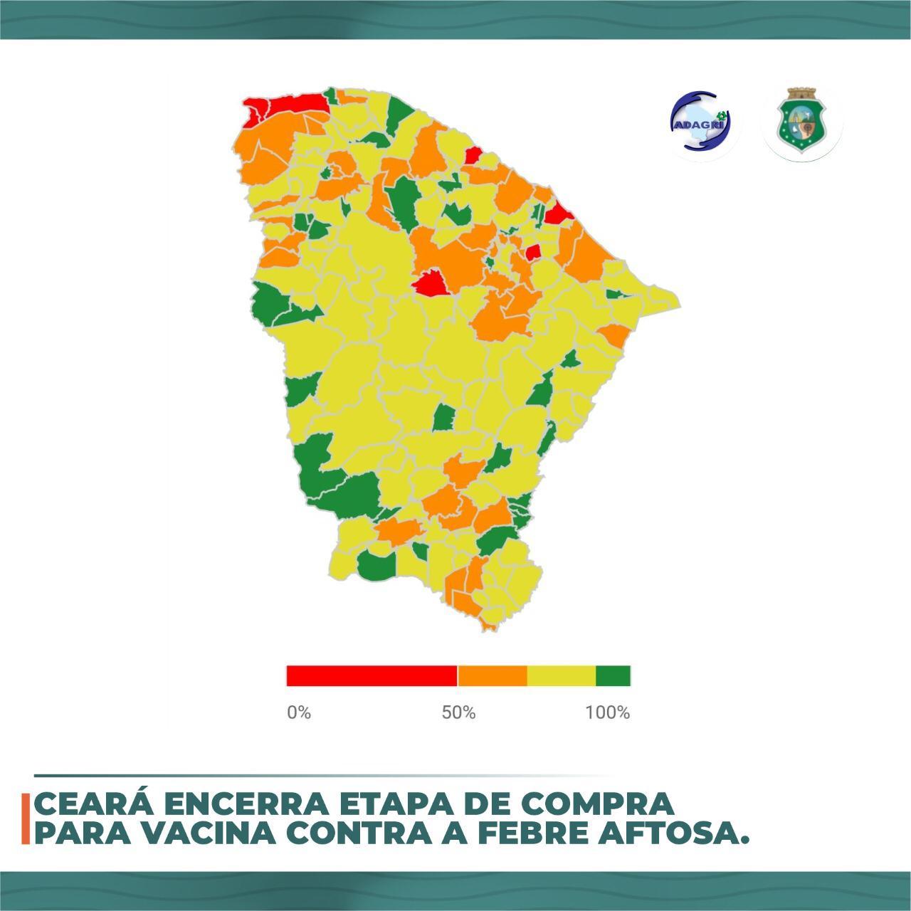 Ceará encerra Etapa de compra da Vacina Contra Febre Aftosa