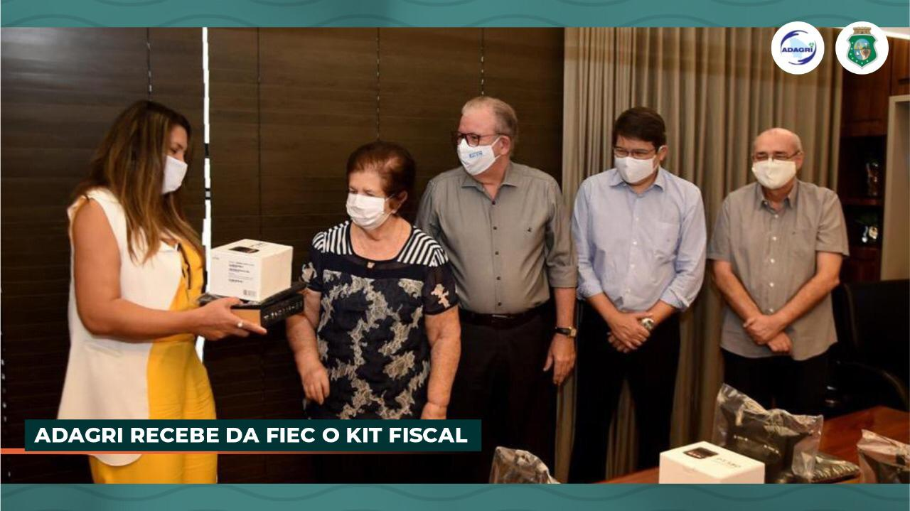 Adagri 100% Digital: através de parceria com a FIEC a Agência recebe kits eletrônicos