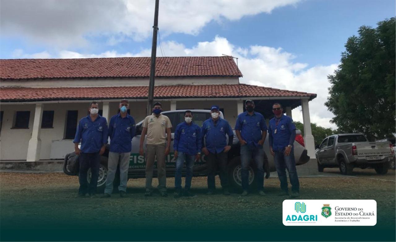 Adagri realiza fiscalização no Sertão Central como medida preventiva da praga do bicudo do algodão